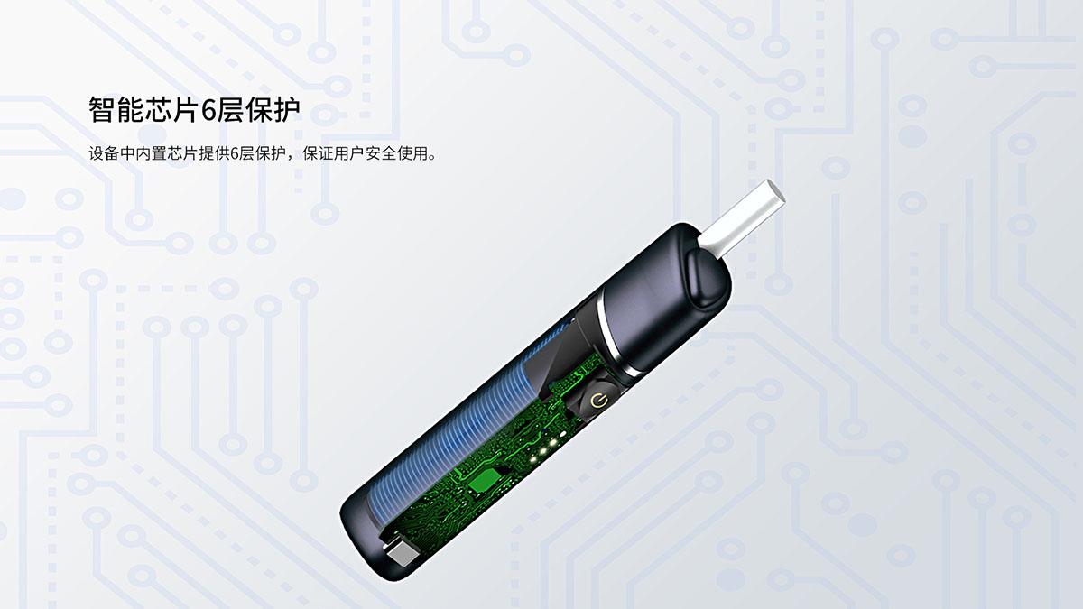 智能芯片提供6种保护 内置的智能芯片提供6种保护,确保用户获得更安全的电子烟体验