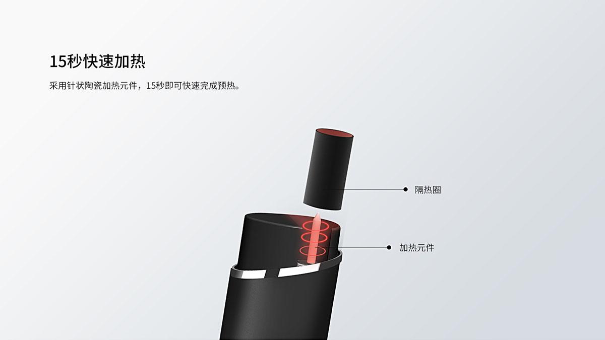 15秒快速预热 采用针状加热元件,能够在15秒内完成预热